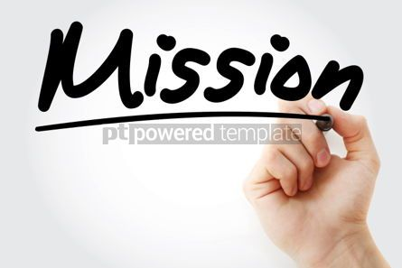 Business: Mission text with marker business concept #01234