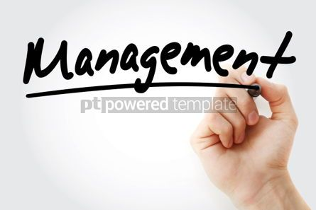 Business: Management text with marker business concept #01238