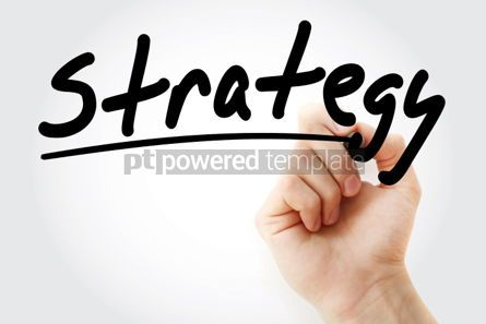 Business: Strategy text with marker business concept #01239