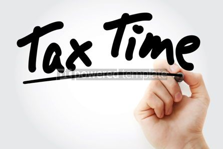 Business: Tax Time text with marker business concept #01240