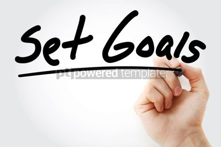 Business: Set Goals text with marker business concept #01241