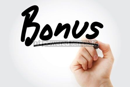 Business: Bonus text with marker business concept #01243