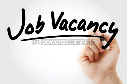 Business: Job Vacancy text with marker business concept background #01244