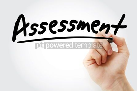 Business: Assessment text with marker business concept background #01245