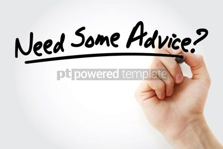 Business: Need Some Advice text with marker business concept background #01246