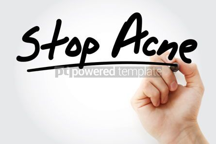Business: Stop Acne text with marker health concept background #01248