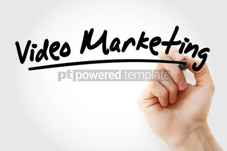 Business: Video Marketing text with marker business concept background #01249