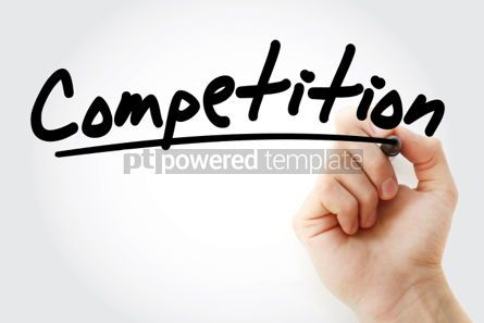 Business: Competition text with marker business concept background #01251