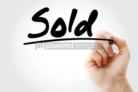 Business: Sold text with marker business concept background #01253