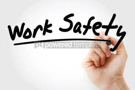 Business: Work Safety text with marker concept background #01254