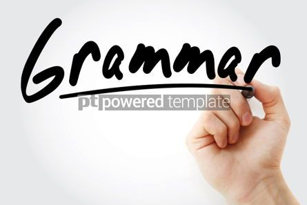 Business: Grammar text with marker education concept background #01255