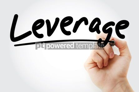 Business: Leverage text with marker business concept background #01256