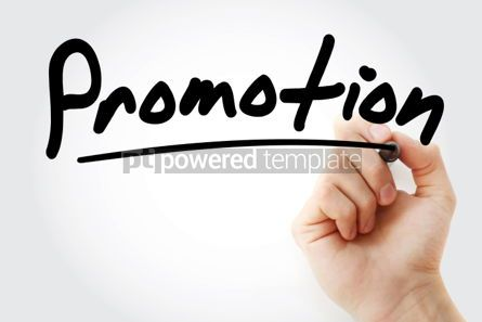 Business: Promotion text with marker business concept background #01258