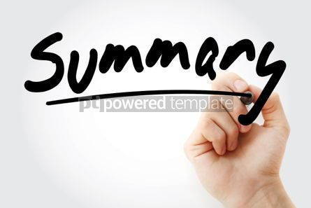 Business: Summary text with marker business concept #01259