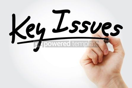 Business: Key Issues text with marker business concept background #01266