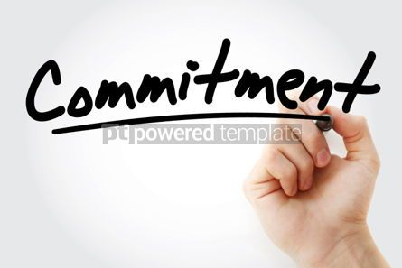 Business: Commitment text with marker #01267