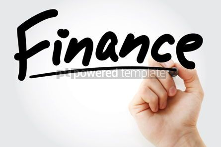 Business: Finance text with marker business concept background #01268