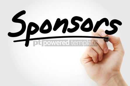 Business: Sponsors text with marker #01269