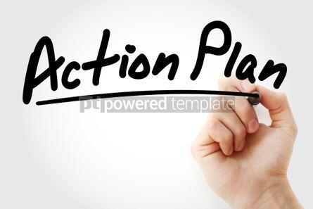 Business: Foto - texto del plan de acción con marcador #01271