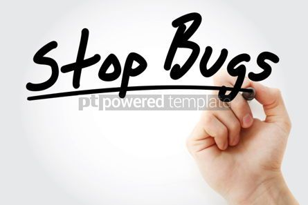Business: Stop Bugs text with marker #01276