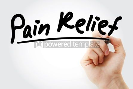 Business: Hand writing Pain Relief with marker #01277