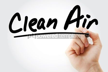 Business: Clean Air text with marker #01278