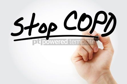Business: Stop COPD text with marker #01280