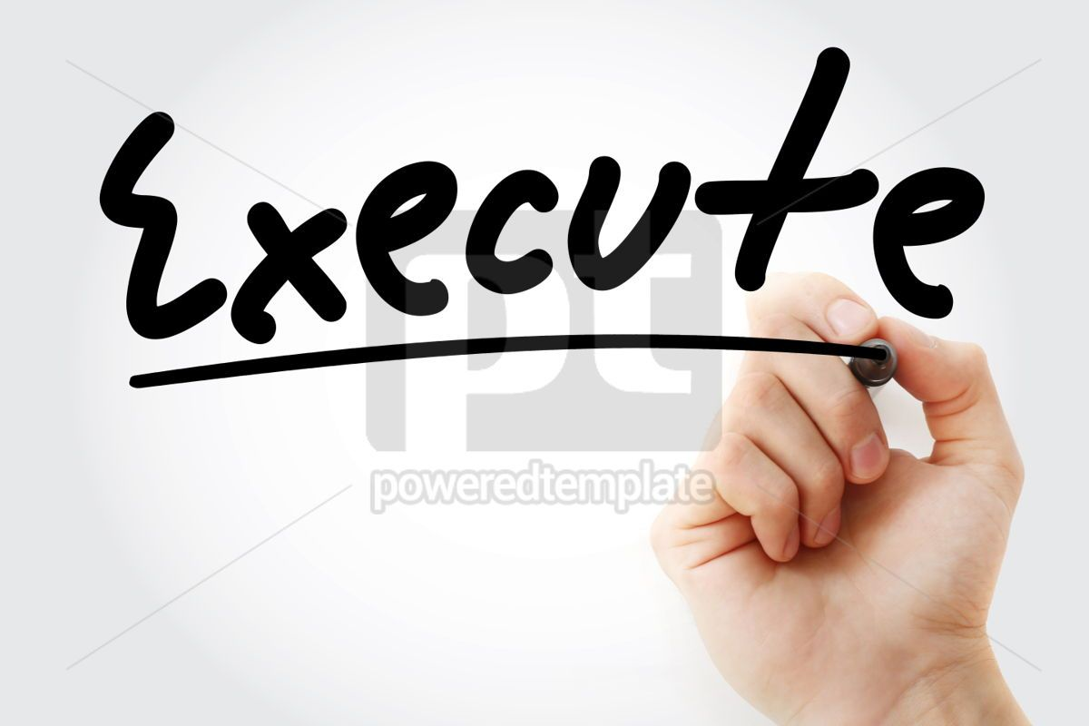 Executive text with marker, 01282, Business — PoweredTemplate.com