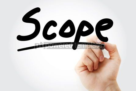 Business: Scope text with marker #01284