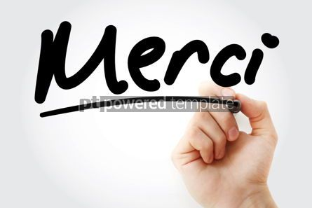 Business: Merci text Thank You In French #01285