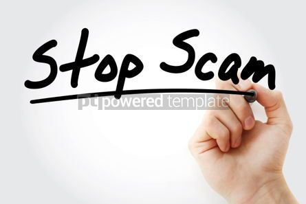 Business: Stop Scam text with marker #01289