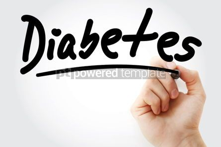 Business: Diabetes text with marker #01290