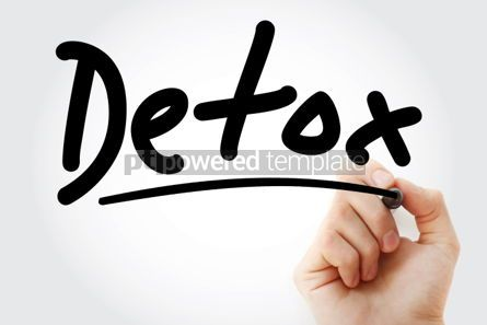 Business: Detox text with marker #01294