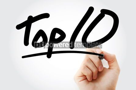 Business: Top 10 text with marker #01296