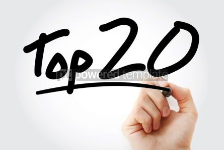 Business: Top 20 text with marker #01297