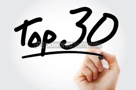 Business: Top 30 text with marker #01298