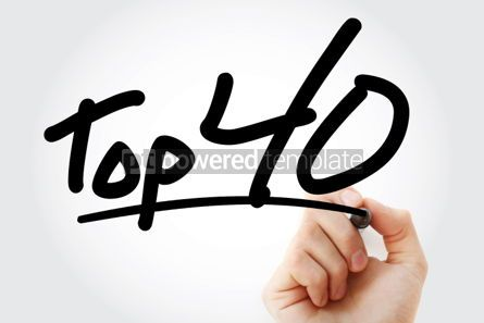 Business: Top 40 text with marker #01299