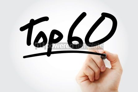 Business: Top 60 text with marker #01301