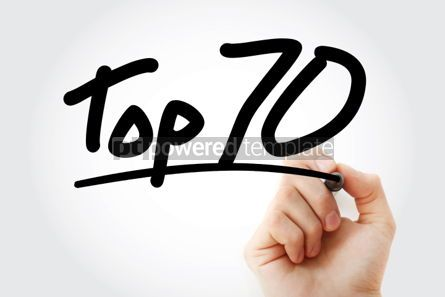 Business: Top 70 text with marker #01302