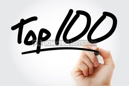 Business: Top 100 text with marker #01305