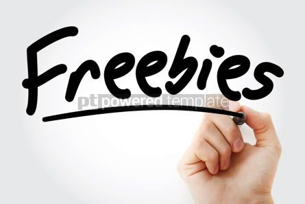 Business: Freebies text with marker #01306