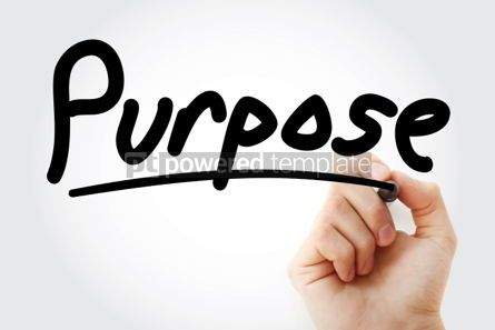 Business: Purpose hand with marker #01307