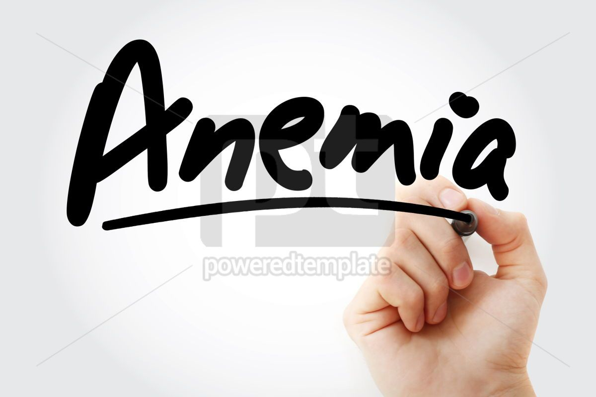 Anemia text with marker, 01308, Business — PoweredTemplate.com