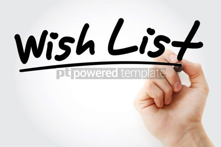 Business: Wish List text with marker #01311