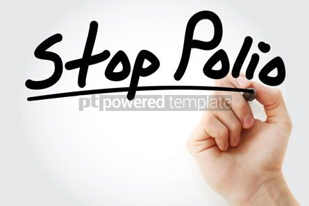 Business: Stop Polio text with marker #01313