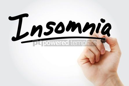 Business: Insomnia text with marker #01315