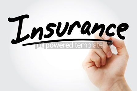 Business: Insurance text with marker #01317