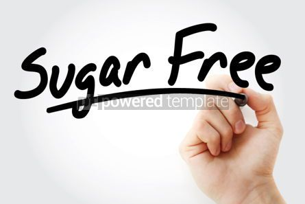 Business: Sugar Free text with marker #01322
