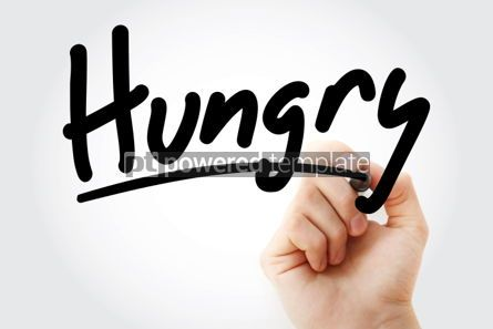 Business: Hungry text with marker #01325