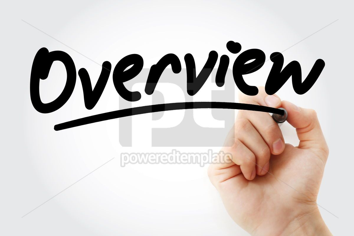 Overview text with marker, 01326, Business — PoweredTemplate.com